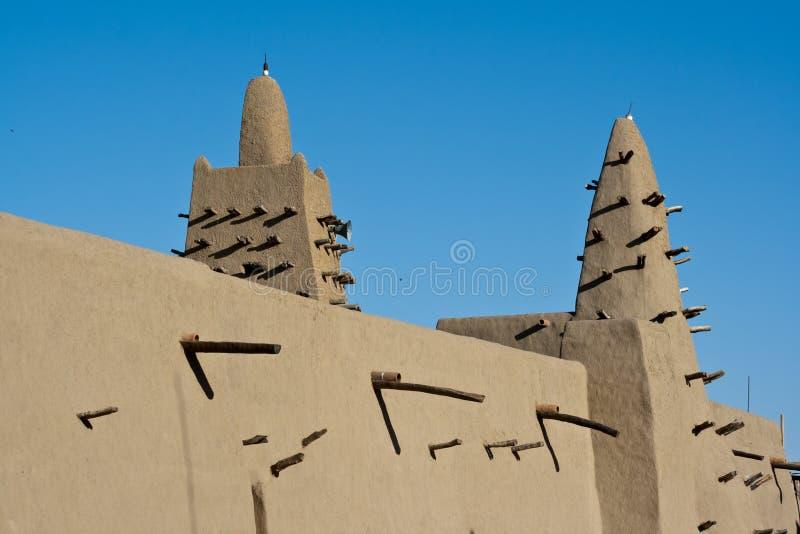De baksteenmoskee van de modder, Timbuktu. royalty-vrije stock afbeelding