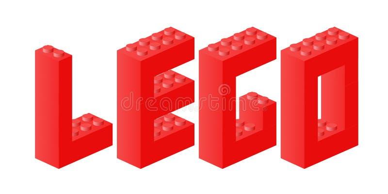 De baksteenteken van Lego stock illustratie