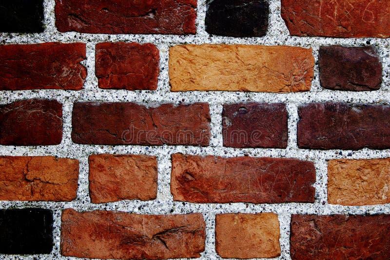 De bakstenen muur van de kleur royalty-vrije stock afbeeldingen