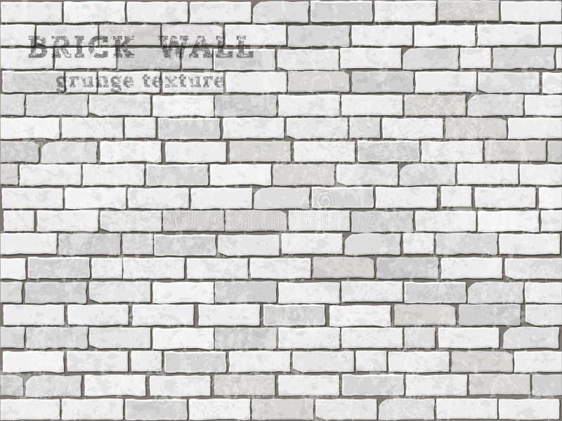 De bakstenen muur van Grunge vector illustratie