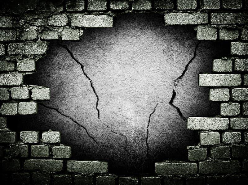 De bakstenen muur van Grunge royalty-vrije stock afbeeldingen