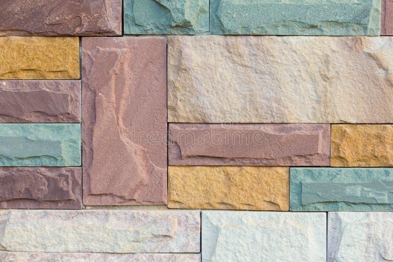 De bakstenen muur van het zandsteen royalty-vrije stock fotografie