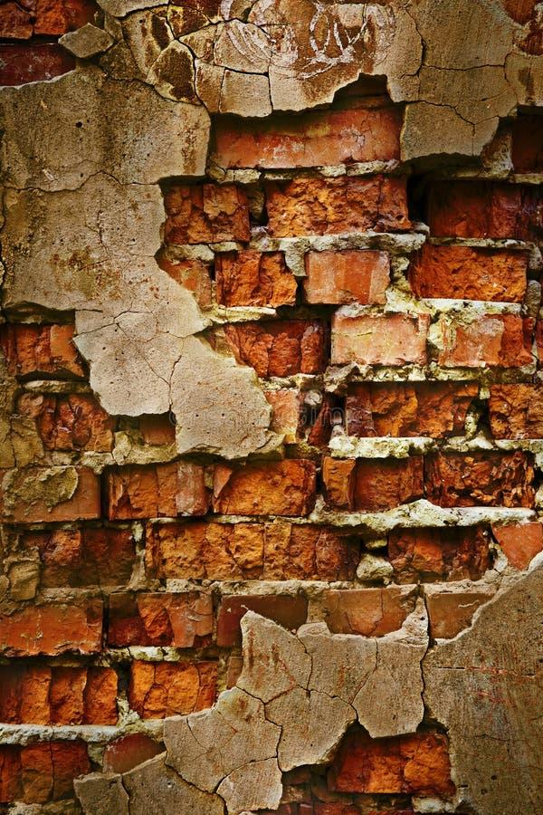 De bakstenen muurtextuur van Grunge