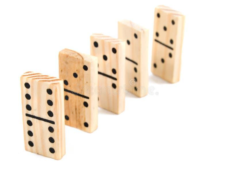 De Bakstenen van de domino stock afbeelding