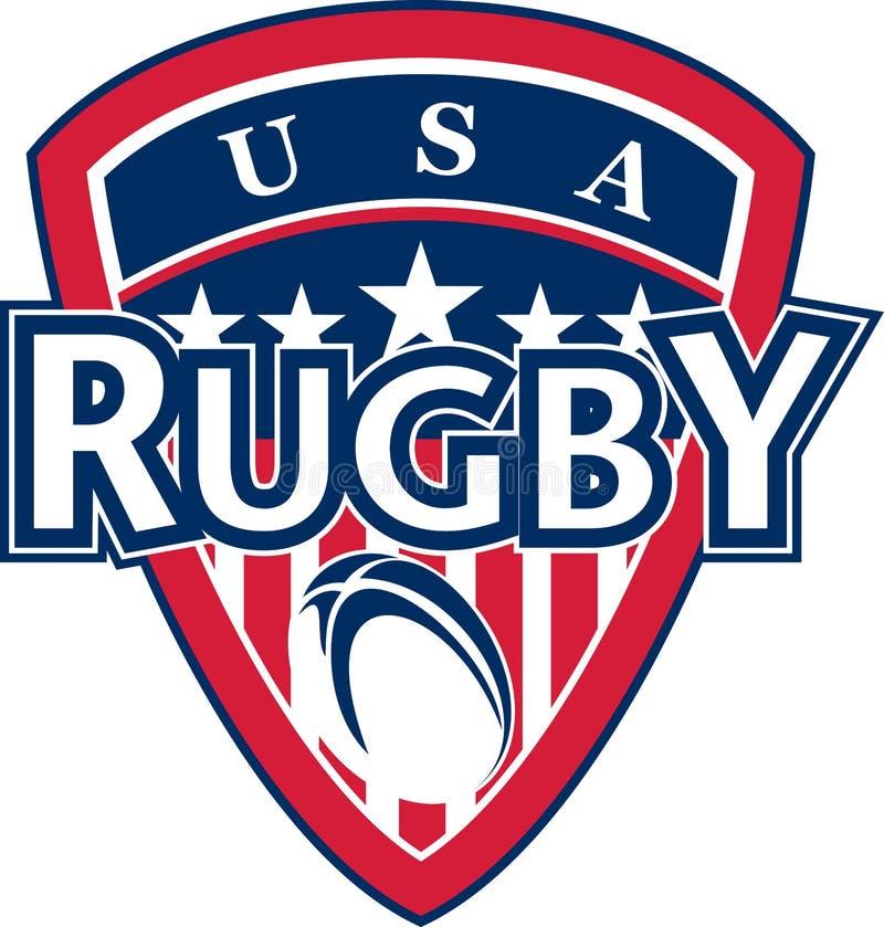 De bal de Amerikaanse V.S. van het rugby stock illustratie