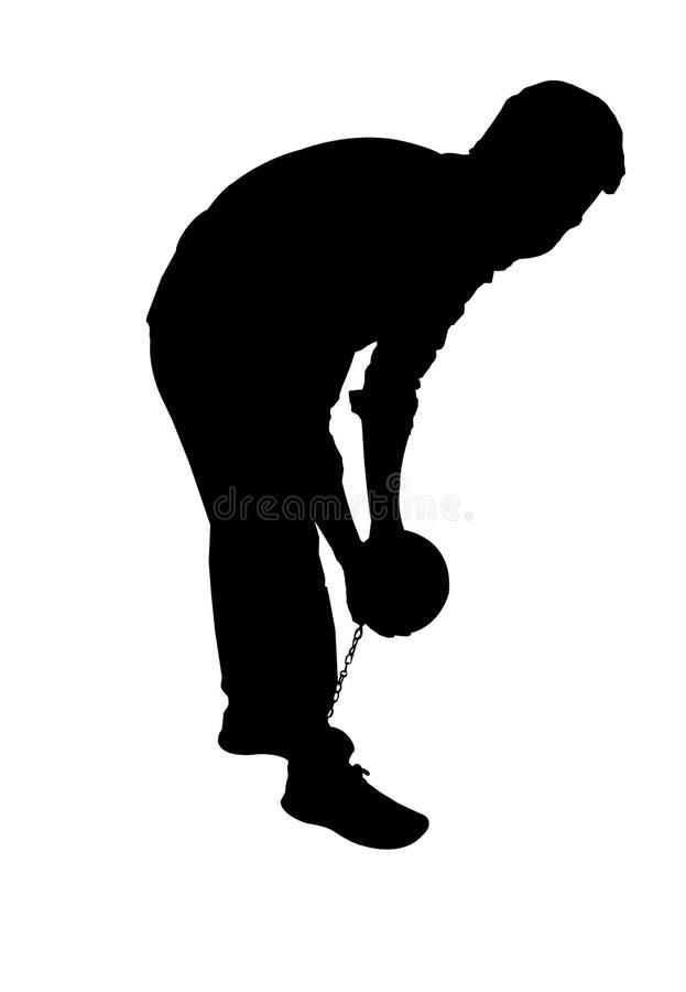 De bal en ketent Silo 2 stock illustratie