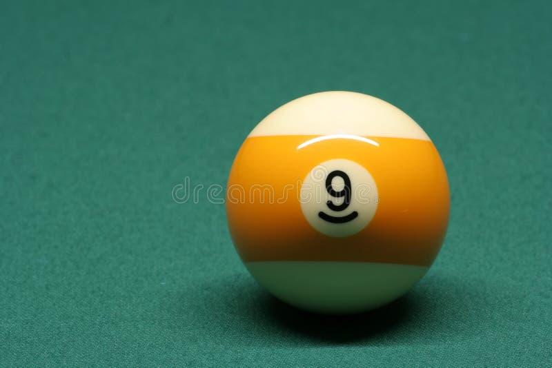 De bal nummer 09 van de pool royalty-vrije stock foto
