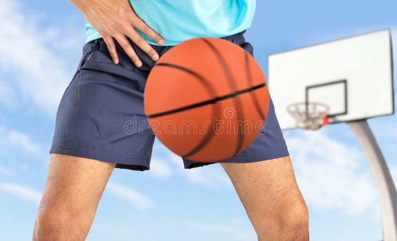 De bal raakte de bifurcatie stock afbeeldingen