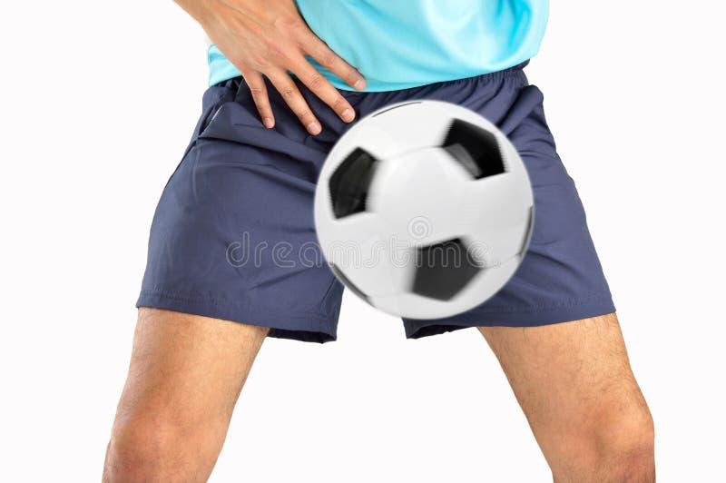 De bal raakte de bifurcatie stock foto