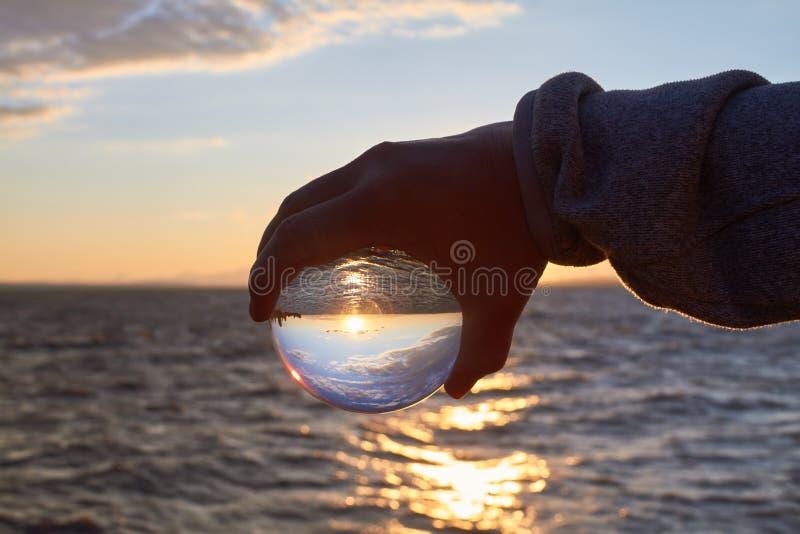 De bal van Cystal royalty-vrije stock foto
