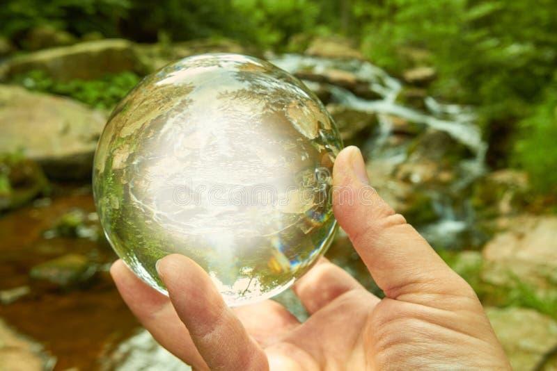 De bal van Cystal royalty-vrije stock fotografie