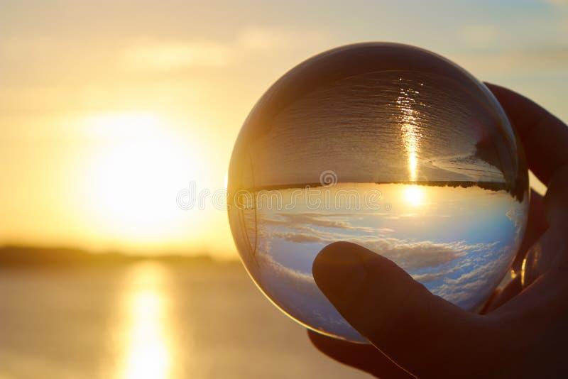 De bal van Cystal stock afbeelding