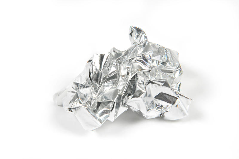De Bal van de aluminiumfolie royalty-vrije stock foto