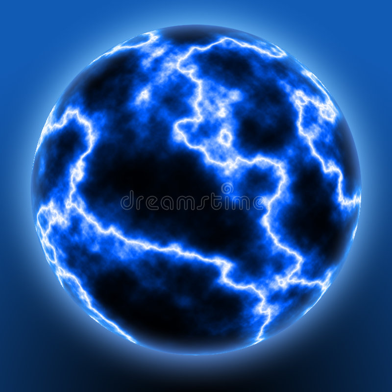De Bal van de bliksem vector illustratie