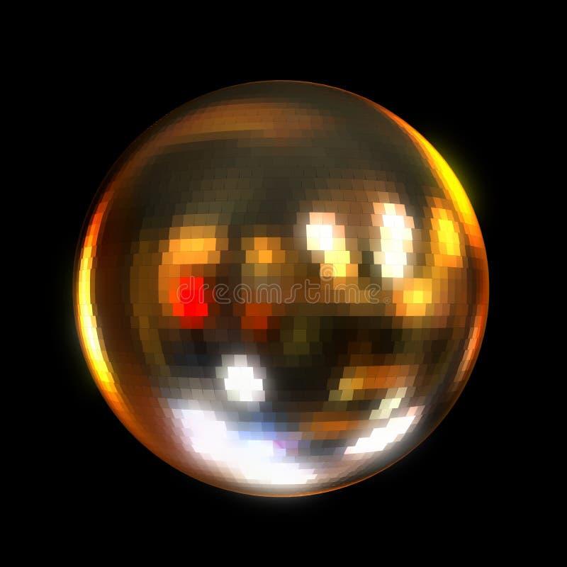De bal van de disco. vector illustratie