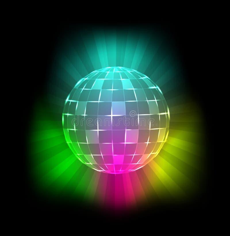 De bal van de disco royalty-vrije illustratie