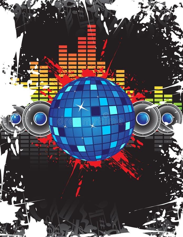De bal van de disco vector illustratie