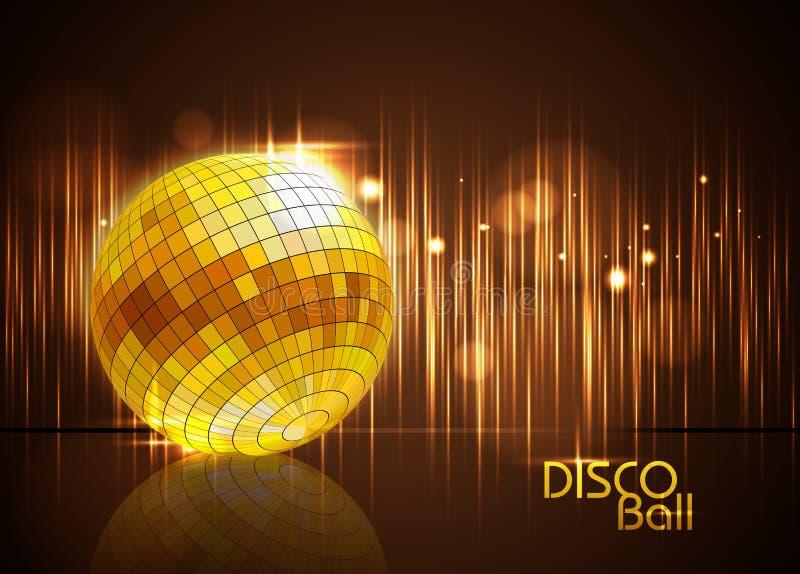 De Bal van de disco De achtergrond van de disco vector illustratie