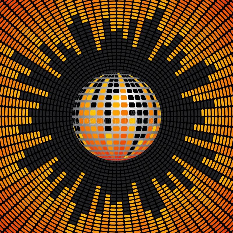 De Bal van de disco en de Achtergrond van de Equaliser royalty-vrije illustratie