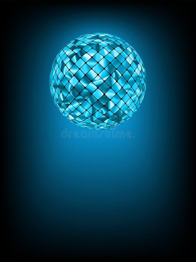 De bal van de disco met gloed in nevel. EPS 8 royalty-vrije illustratie