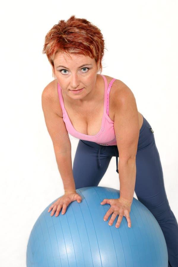 De bal van de gymnastiek stock foto