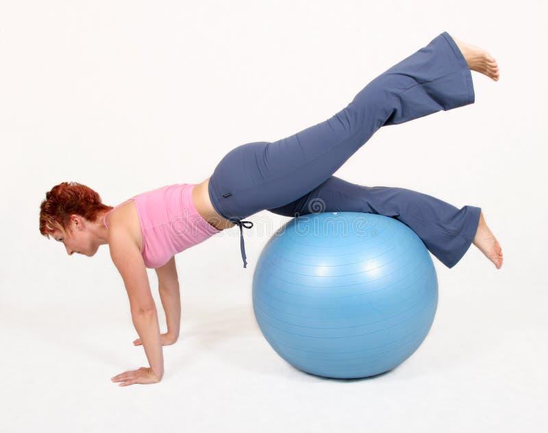 De bal van de gymnastiek stock foto's