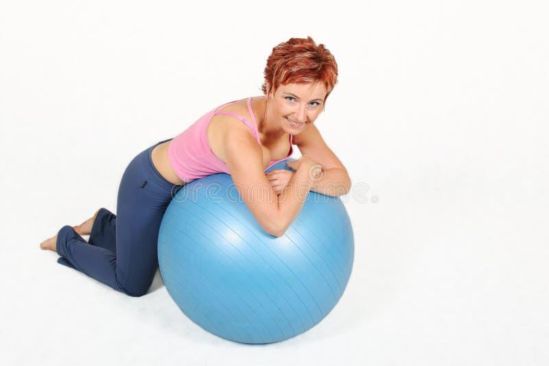 De bal van de gymnastiek royalty-vrije stock foto's