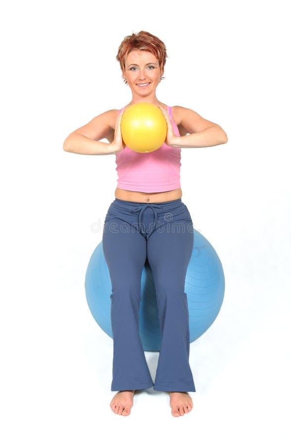 De bal van de gymnastiek stock fotografie