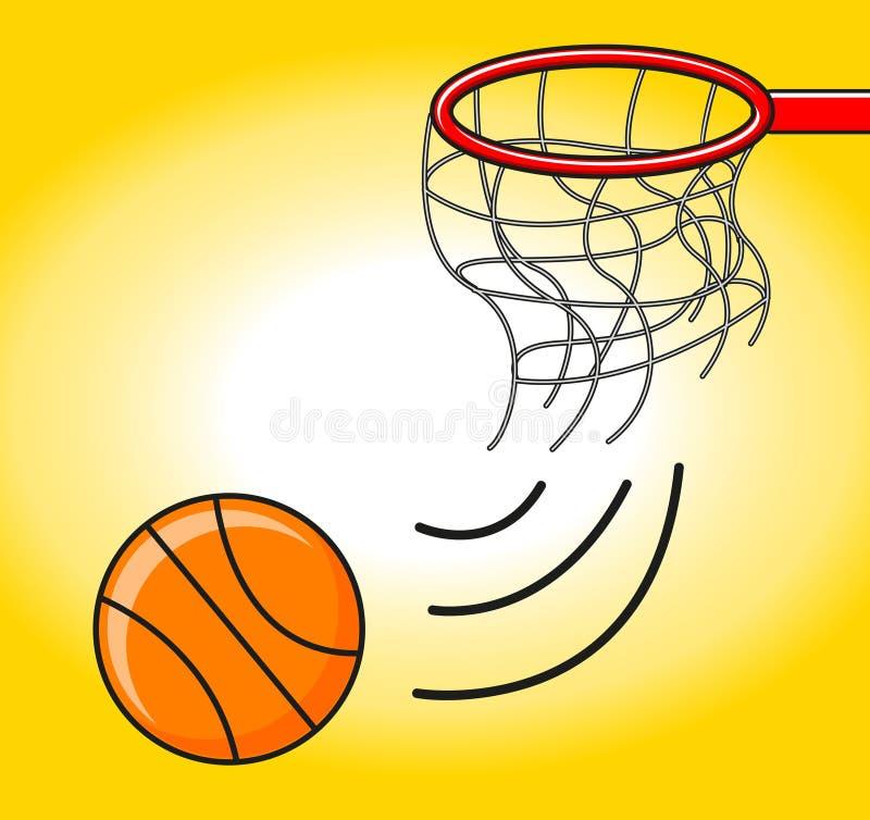 De bal van de mand in ring stock illustratie