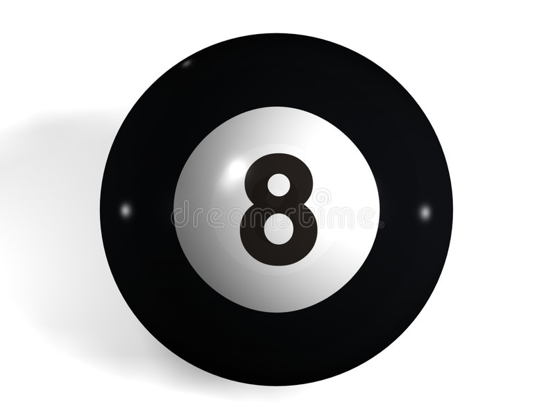 De bal van de pool stock illustratie