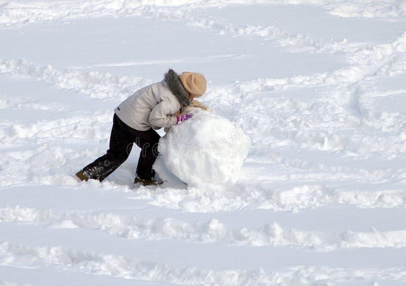 De bal van de sneeuw stock foto's