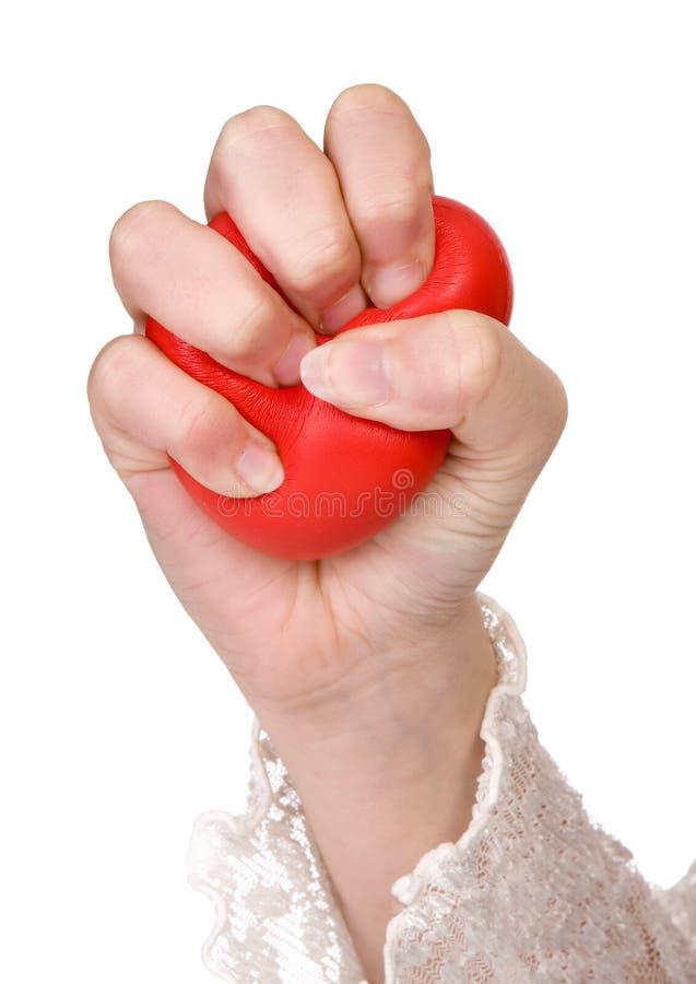 De bal van de spanning stock foto