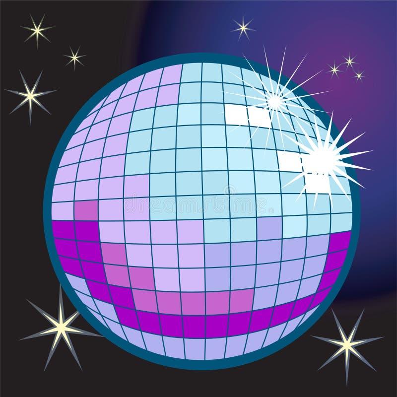 De bal van de spiegel of van de disco royalty-vrije illustratie