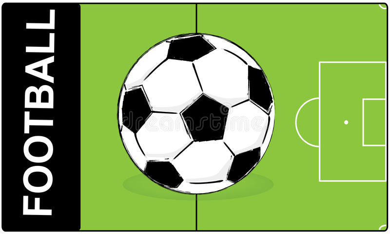 De bal van de voetbalvoetbal royalty-vrije illustratie