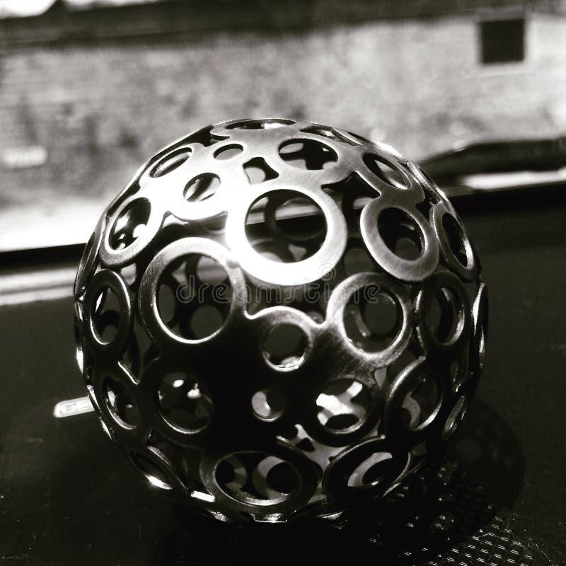 De bal van het decorstaal, stock afbeeldingen