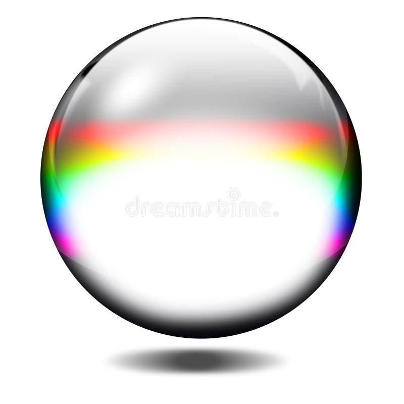 De bal van het glas vector illustratie
