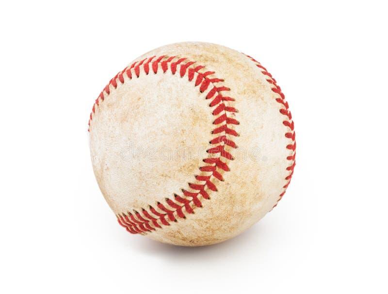De bal van het honkbal die op witte achtergrond wordt geïsoleerdi royalty-vrije stock afbeelding