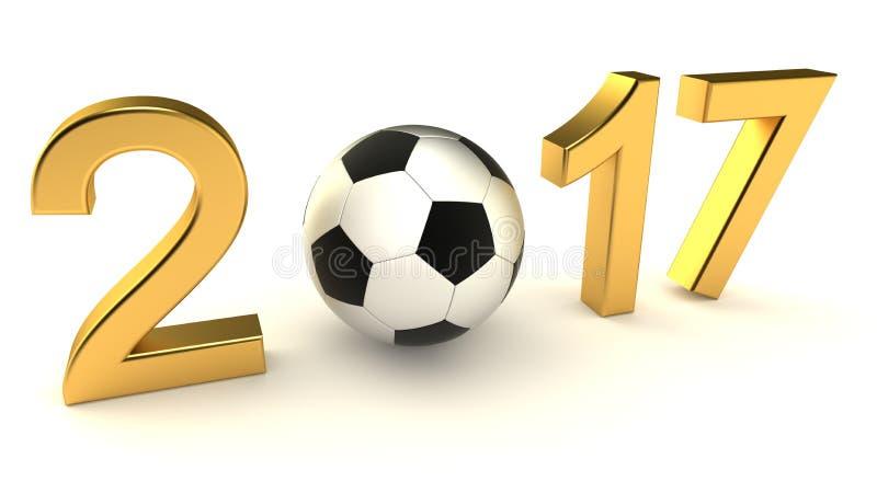 De bal van het jaar 2017 voetbal stock illustratie