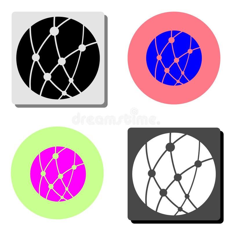 De bal van het jonge geitjesspeelgoed Vlak vectorpictogram royalty-vrije illustratie