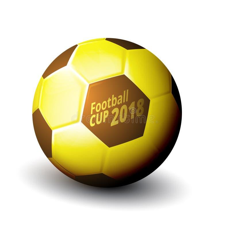 De Bal van de het Kampioenschapskop van de voetbal 2018 Wereld royalty-vrije illustratie