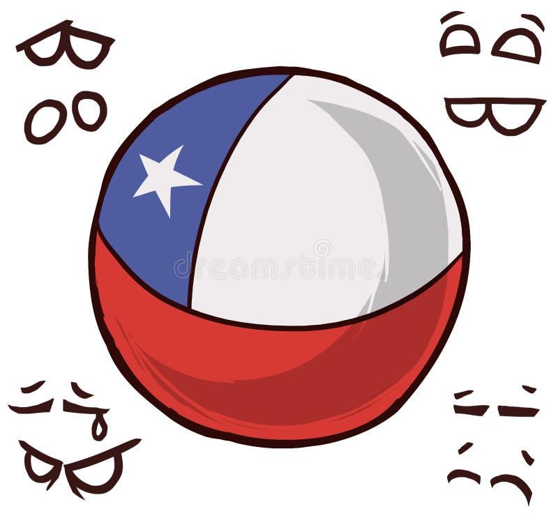De bal van het land van Chili vector illustratie