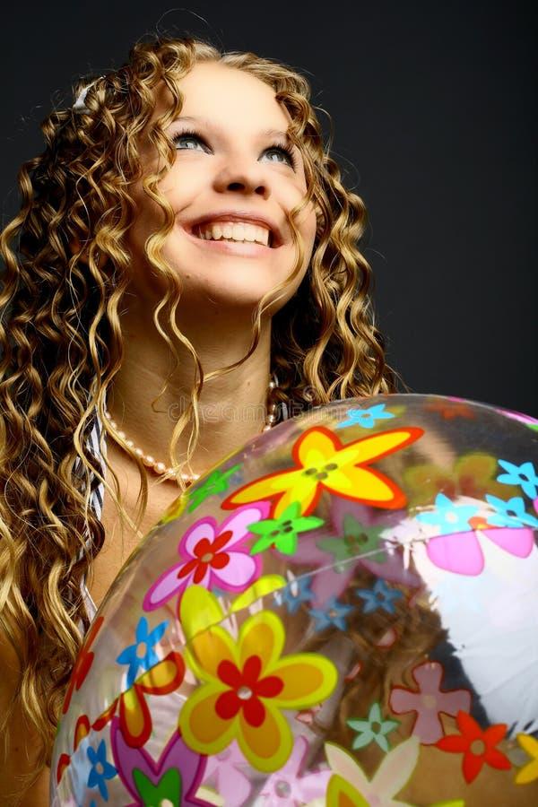 De bal van het meisje royalty-vrije stock afbeeldingen