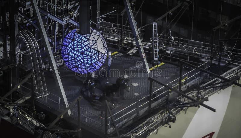 De Bal van het nieuwjaar - de Bal van het Times Square van de Stad van New York royalty-vrije stock afbeeldingen