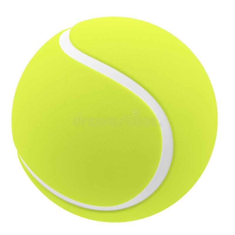 De bal van het tennis die op witte achtergrond wordt geïsoleerdc stock illustratie
