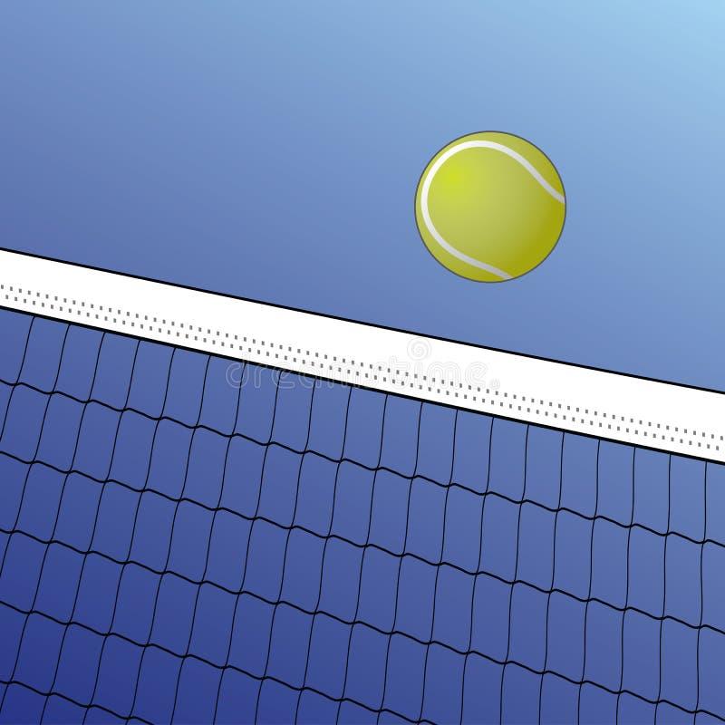 De Bal van het tennis over Netto vector illustratie