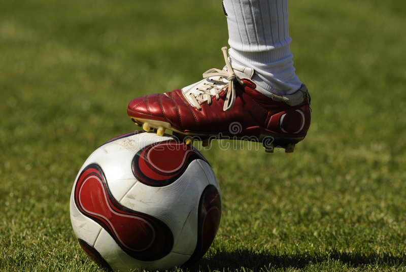 De bal van het voetbal royalty-vrije stock afbeeldingen