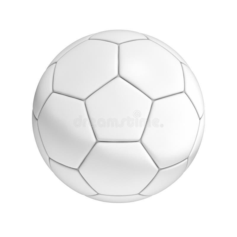 De Bal van het voetbal die op Witte Achtergrond wordt geïsoleerdo stock illustratie