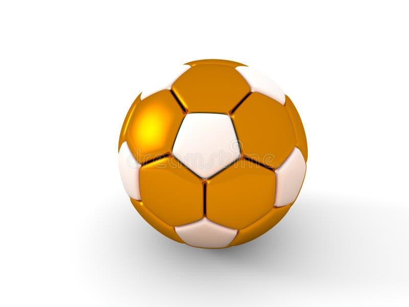 De bal van het voetbal Geïsoleerdd voorwerp op witte achtergrond 3d geef terug royalty-vrije stock afbeeldingen