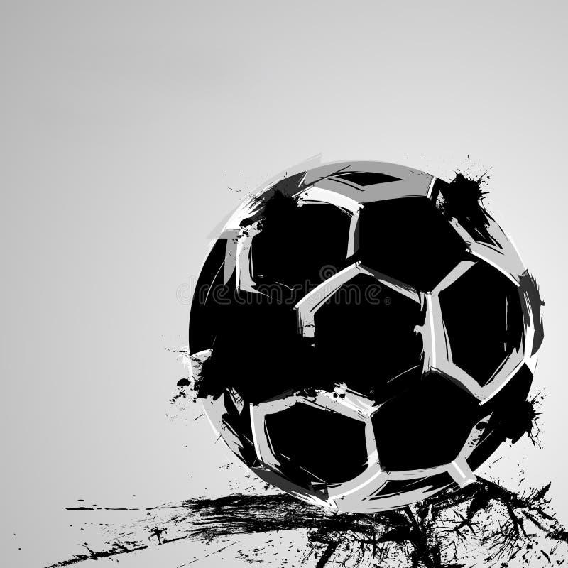 De bal van het voetbal grunge royalty-vrije illustratie