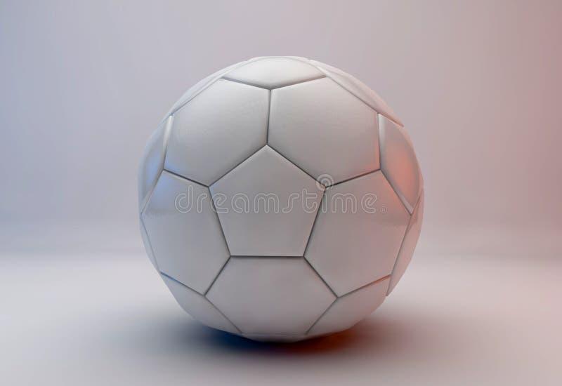De bal van het voetbal met vlag royalty-vrije illustratie
